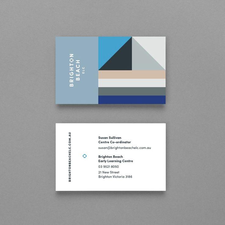 Brighton Beach ELC by Studio Brave, Australia. #branding #businesscards