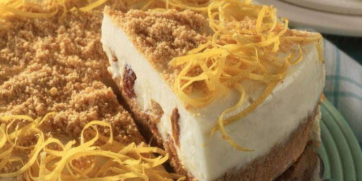 Recipe for Lemon and sultana cheesecake