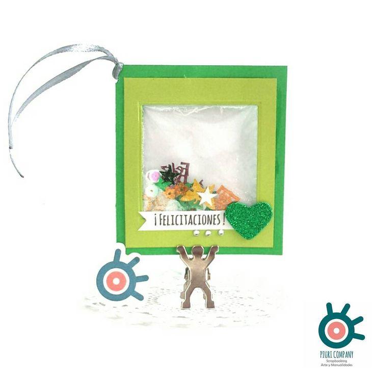 """19 Me gusta, 2 comentarios - Piuri (@piuri.company) en Instagram: """"Verde que te quiero verde #verde #shaker #tarjeta #cardlover #craftlovers #manualidades…"""""""