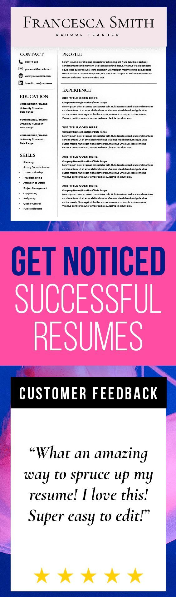 18 best Resumes that rock images on Pinterest Resume templates