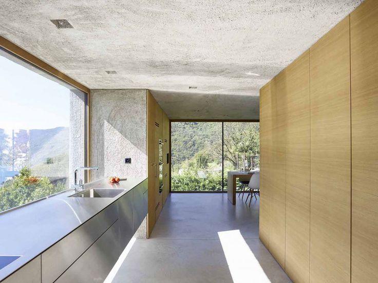 #kitchen #lakehouse | Est-Magazine-Brissago-House-Wespi-de-Meuron-Romeo-architects1