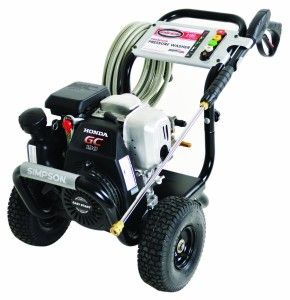 """The Simpson MSH3125-S MegaShot 3100 PSI 2.5 GPM Honda GCV190 Engine Gas Pressure Washer is perfect for the """"Do-it-Yourselfer"""" looking for maximum performance with minimal investment. Simple to use and great for cleaning decks, patios, house siding, outdoor furniture, and prepping home exteriors for painting. Its compact design is lightweight and small enough to be easily transported by one person."""