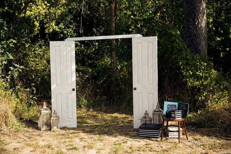 free-standing doors available for hire - used here for the photo booth