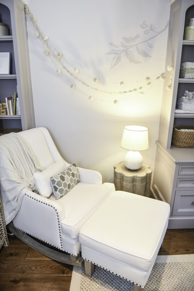 Neutral Nursery from @potterybarnkids for Stephen Curry's daughter - love all the creams and neutrals!