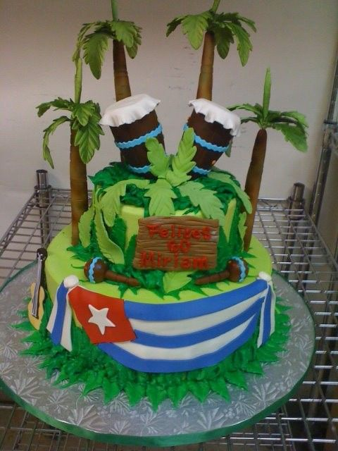 Cuban Bongos Birthday Cake Birthday Cakes Pinterest
