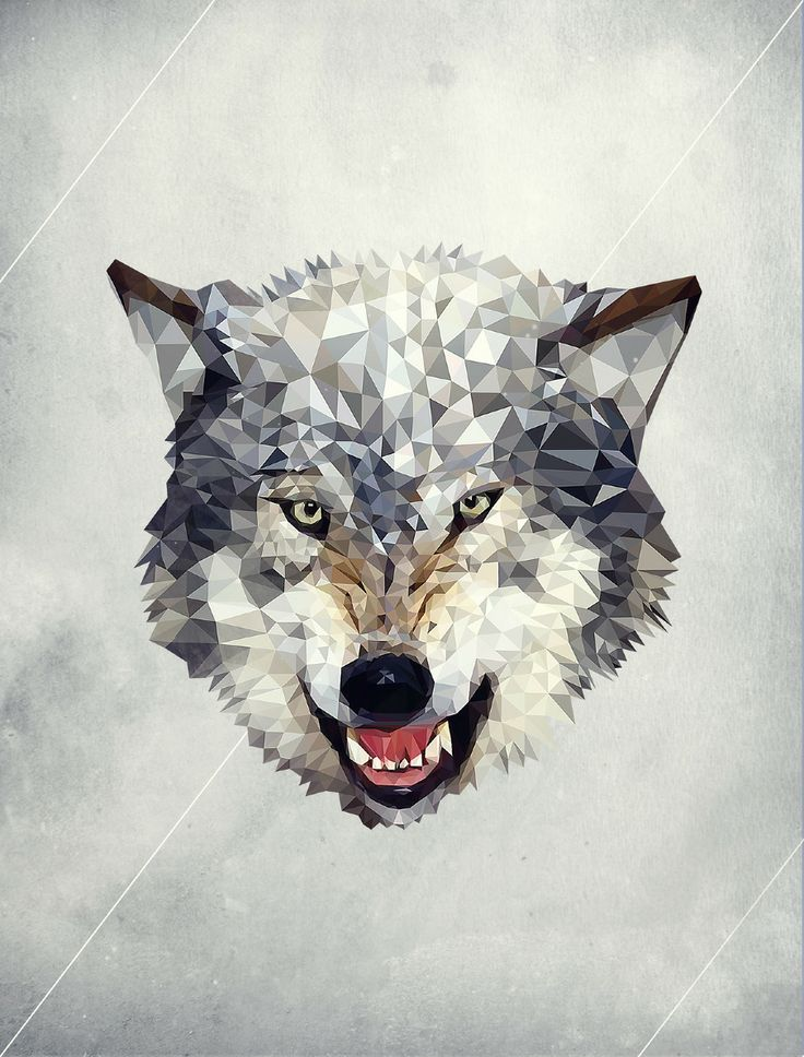 Low polygon wolf... Something like this for a tiger!