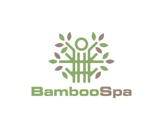 Bamboo Spa Logo design - Logo design of a person made from a bamboo plant. <br /> Price $250.00