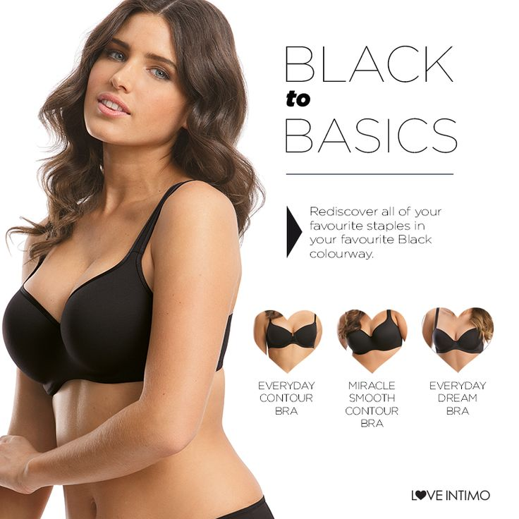 The ideal companion for everyday wear, rediscover your love for stunning staples with our Foundation pieces in Black! Whether you love Push Up, Contour or Support, Intimo has a beautiful Black bra for every body! www.intimo.com.au