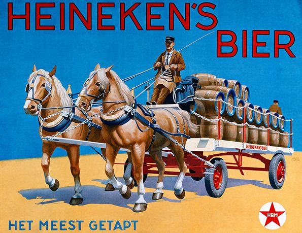 Oude reclameposters Heineken   biernet.nl