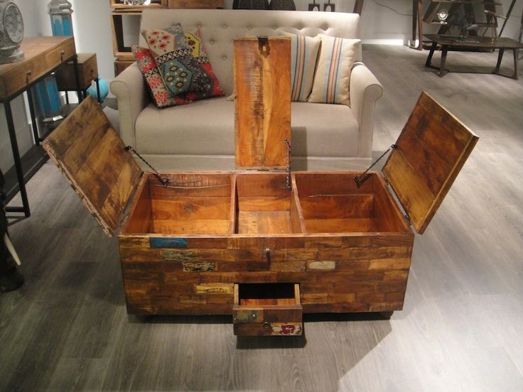 Harlequin Old Reclaimed Teak Wood Coffee Table Chest   Design Ideas Picture  Inspiration Decorating Ideas Remodeling Architecture