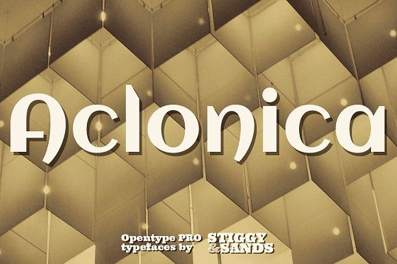 Aclonica Pro by Stiggy & Sands on @creativemarket