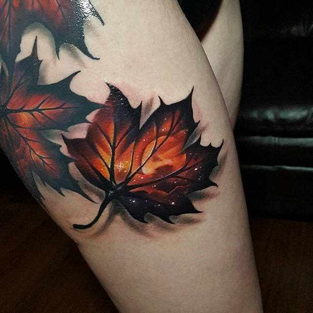 WEBSTA @ tattoo_and_street_art - AMAZING 3D TATTOO @Regrann from @tylermalek -  Added another leaf to this bigger leaf thigh piece I have going !! Subtle sky and moon in this one.  Done with inkjecta flite V2 @inkjecta @inkjecta @inkjecta @inkjecta @inkjecta @underworldtattoocompany @underworldtattoocompany @electrumstencilproducts @tattooistartmag @tattooexposure @inkedmag @cooltattoos @inkfreakz @crazyytattoos @superb_tattoos @thebesttattooartists @savemyink @tattoo_of_instagram…