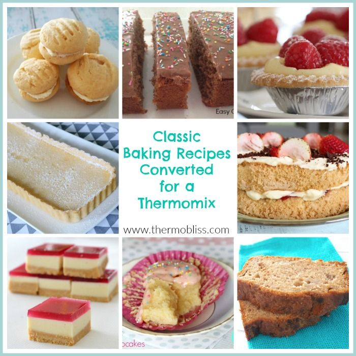 Today we've put together a collection of our favourite classic baking recipes converted for a Thermomix to help you get back to basics.