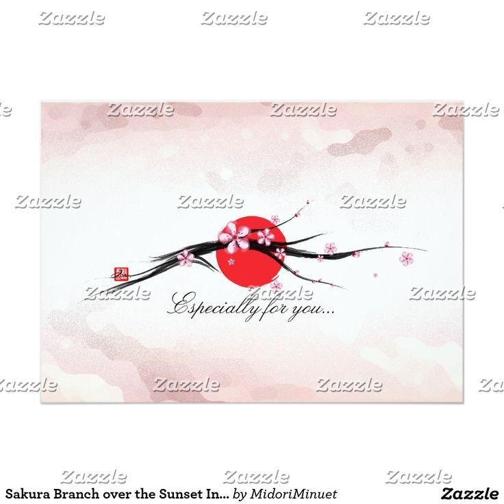 Kirschblüte-Niederlassung über der 12,7 X 17,8 Cm Einladungskarte