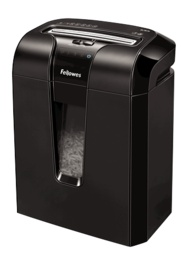 "The Powershred® 63Cb Cross-Cut Shredder features Jam Blocker™ technology. Jam Blocker blocks jams before they start. The SafeSense® Technology stops shredding when hands touch the paper opening. The Energy Savings System provides optimal energy efficiency 100% of the time – in use and out of use. The 63Cb shreds 10 sheets per pass into 5/32""x 2"" cross-cut particles (Security Level P-3). Shreds for up to 8 minutes before a 20 minute cool down period is needed. Features a 5 gallon pull-out…"