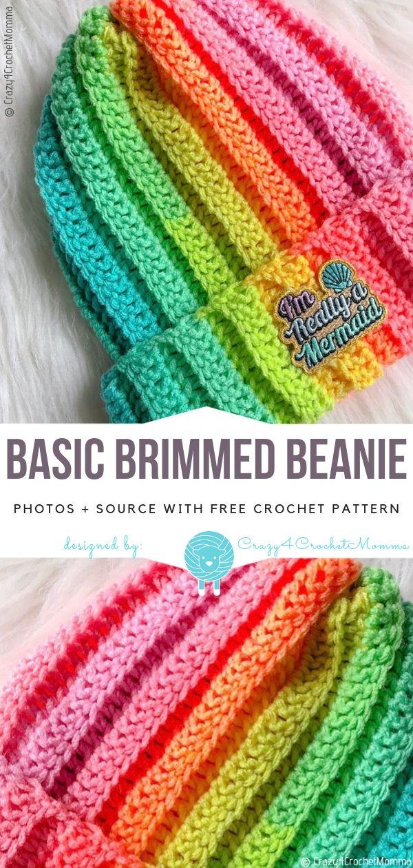Basic Brimmed Beanie Free Häkelanleitung