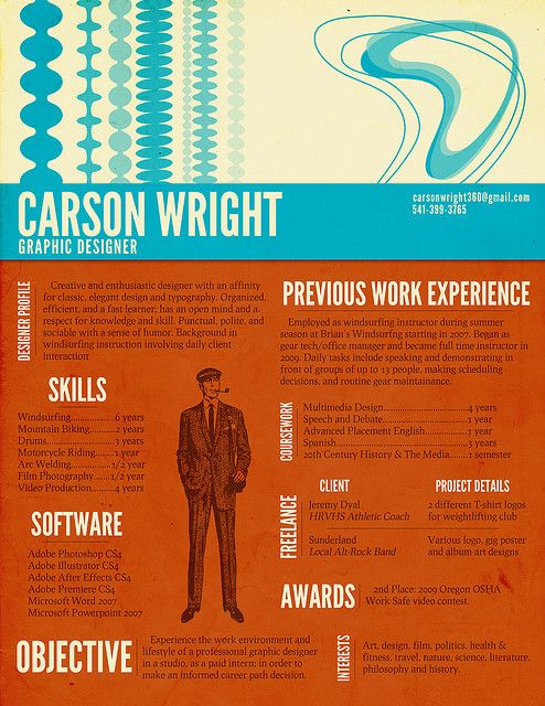 190 Best Resume Design & Layouts Images On Pinterest | Resume
