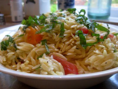 Orzo Salad with Basil and Tomatoes | Recipe