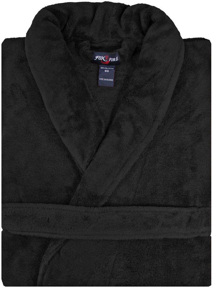$7 Trevor, Black Plush Mens Robe. Menards Black Friday Sale