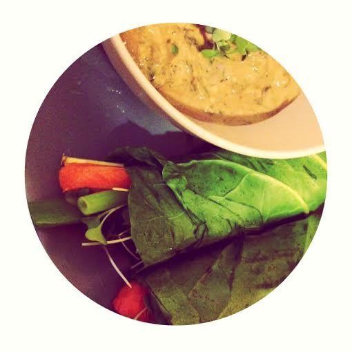 Rainbow Rolls with Creamy Sunbutter Sauce - Mossysentials  #doterra #essentialoils #vegan #sunbutter #veggies