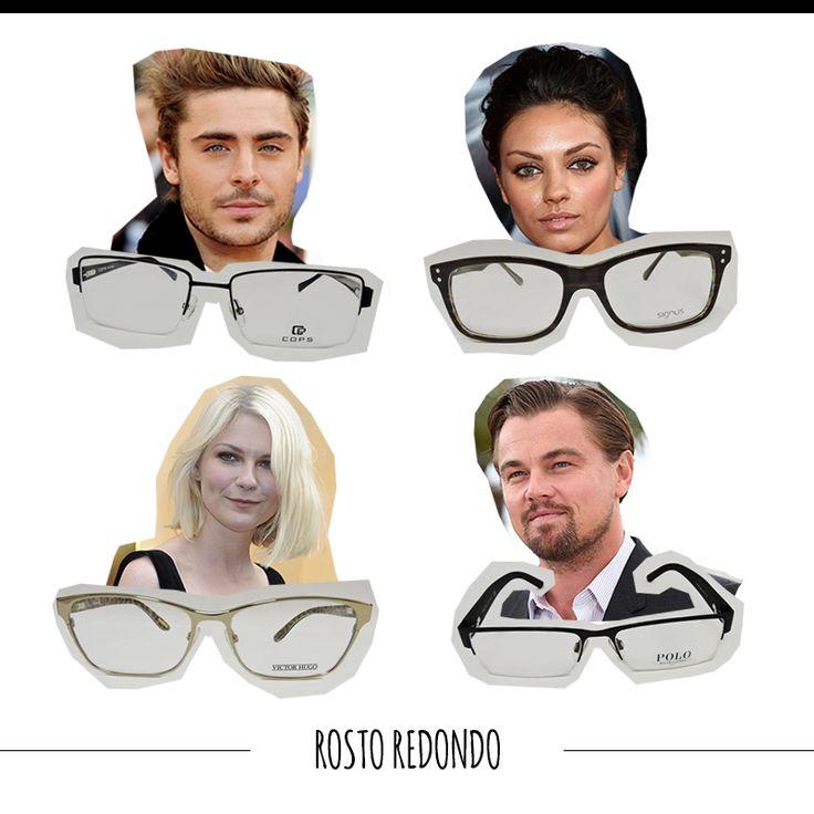 Aposte em armações quadradas ou retangulares, com linhas retas e semiretas. Elas ajudam a afinar o rosto. #FashionSSJ #tiposdeoculos #sunglasses