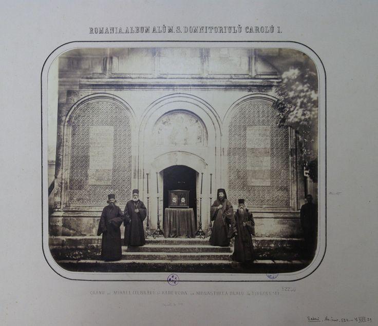 Monks with the skulls of Michael the Brave (Mihai Viteazul) - left - and Radu the Handsome (Radu cel Frumos) - right - at Dealu Monastery, Targoviste