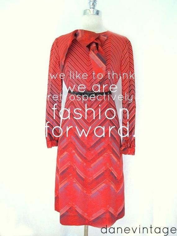 Vtg 60s ADELE SIMPSON Chevron Stripe Designer by danevintage, $89.50Clothing Danes Vintage, 8950, Clothing Danevintag, Vintage Life, Vintage Clothing