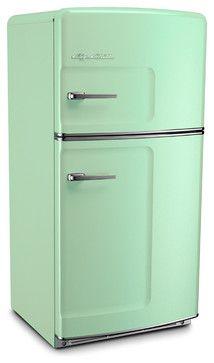 Retro Fridge, Jadeite, Without Ice Maker - midcentury - Refrigerators - Big Chill