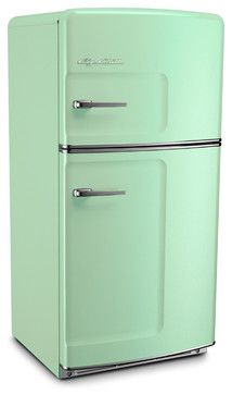 Retro Fridge, Jadeite, Without Ice Maker - midcentury - Refrigerators - Big Chill