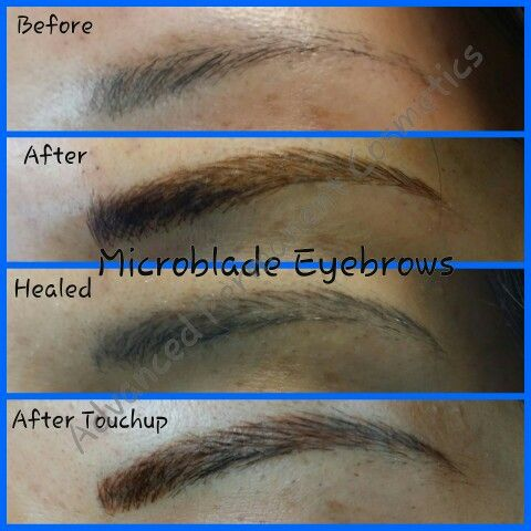 Microblade Eyebrow Feathering Natural Tattooed Brows