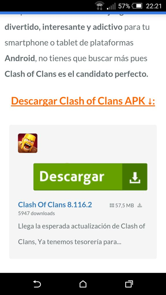 como descargar clash of clans para android 2.3