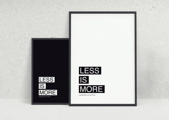 Less is more TWO minimalist black and white by KYLprintable