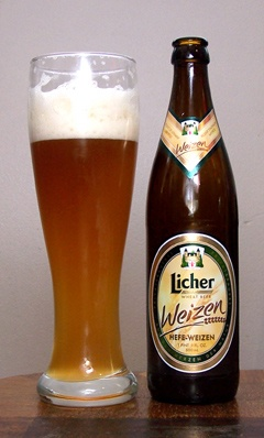 Licher Weizen.  Was für ein leckeres Bier!