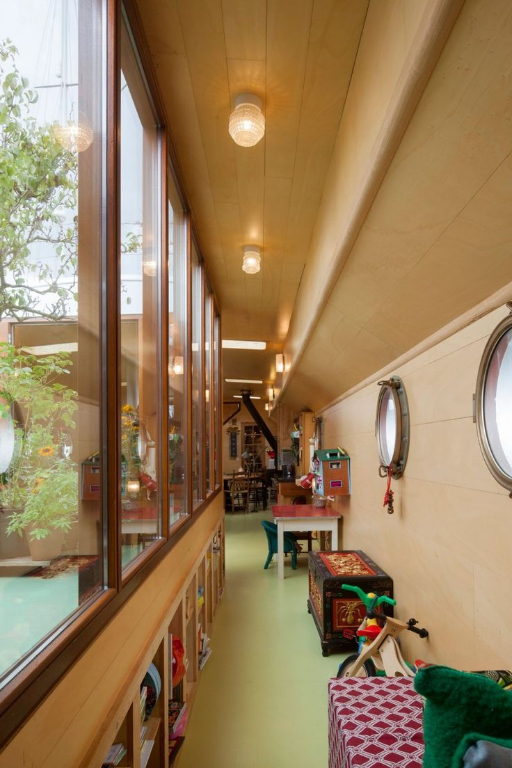 Transformation of a Barge into a Home by BBVH Architects Rotterdam