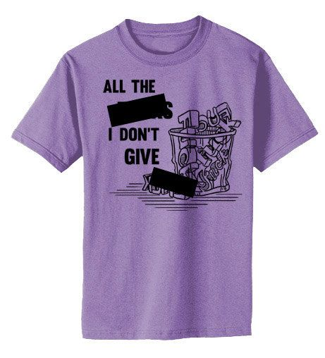 Offensive+T-shirt++All+the+Fcks+I+Don't+Give++by+gesshokudesigns