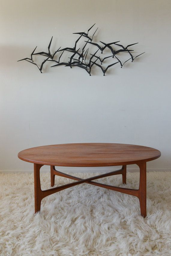 Mid Century Teak Round Coffee Table By Dux