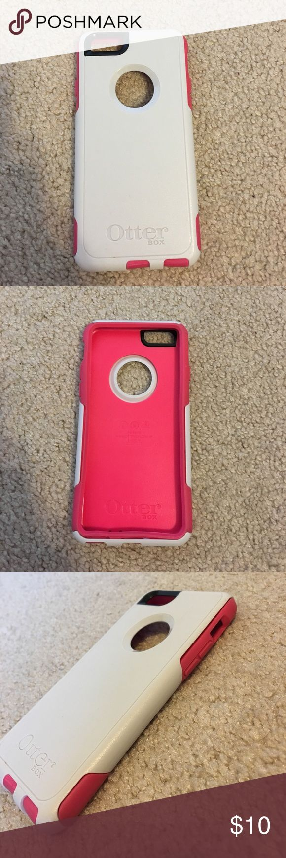 pink and white otter box iPhone 6s pink and white Otter Box, good condition Accessories Phone Cases