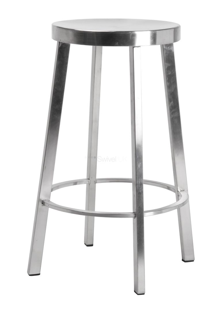 Unique Lem Piston Stool Stainless Steel