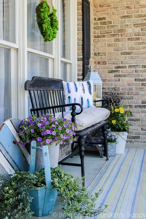 Best 25 Front Porch Bench Ideas On Pinterest Front