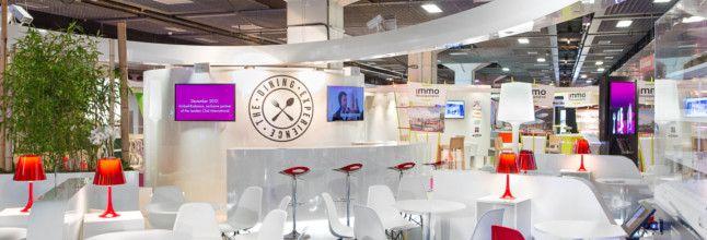 design et conception stand Unibail SIEC