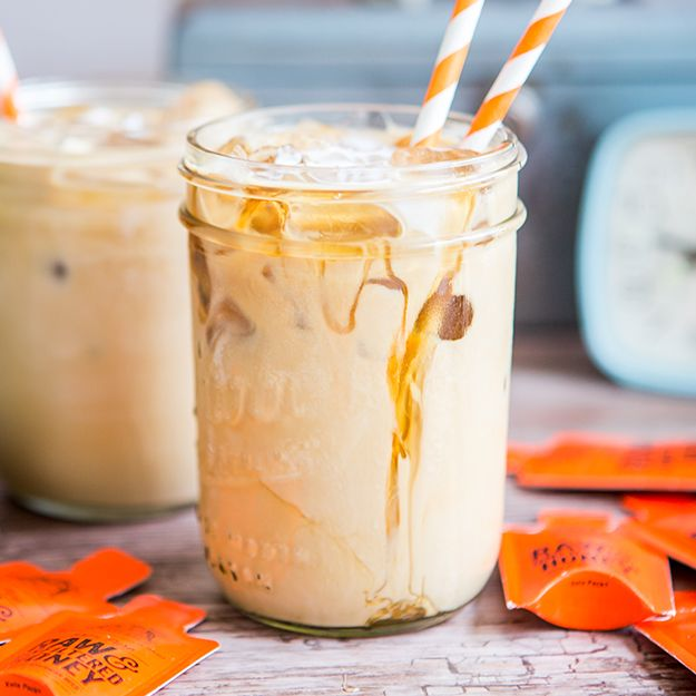 Wake up with our honey sweetened Iced Latte!