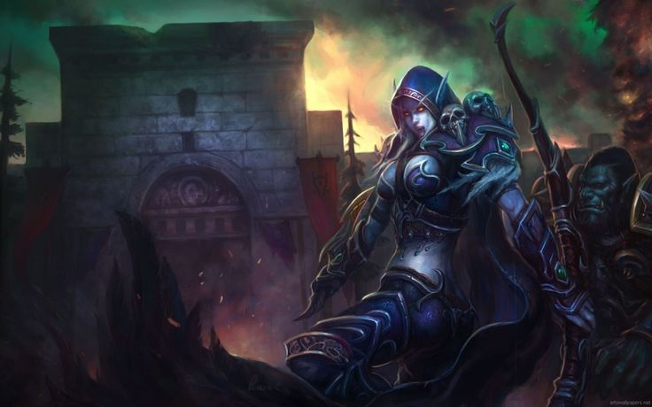 Vídeo Game World Of Warcraft  Thrall (World Of Warcraft) Sylvanas Windrunner Papel de Parede
