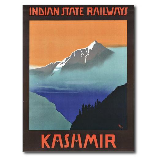 Voyage vintage du Cachemire Inde Cartes Postales   Zazzle