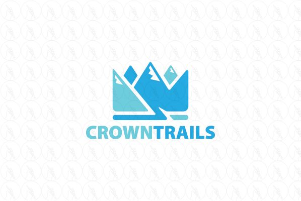 Crown Trails - $199 (negotiable) http://www.stronglogos.com/product/crown-trails #logo #design #sale #mountain #hike #guide #nature #trails #hotels #B&B #travel