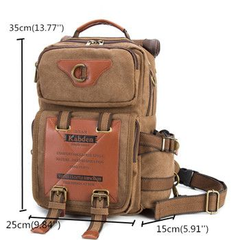 Ekphero 13L Outdoor Large Capacity Canvas Multi-use Crossbody Bag Chest Bag For Men Online - NewChic