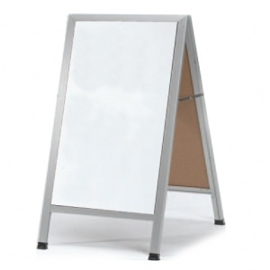 "AA-5 - 42""H x 24""W Aluminum Frame w/White Melamine Markerboard 