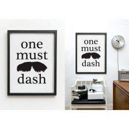 TA-TA, the original One Must Dash typographic art print from our online store