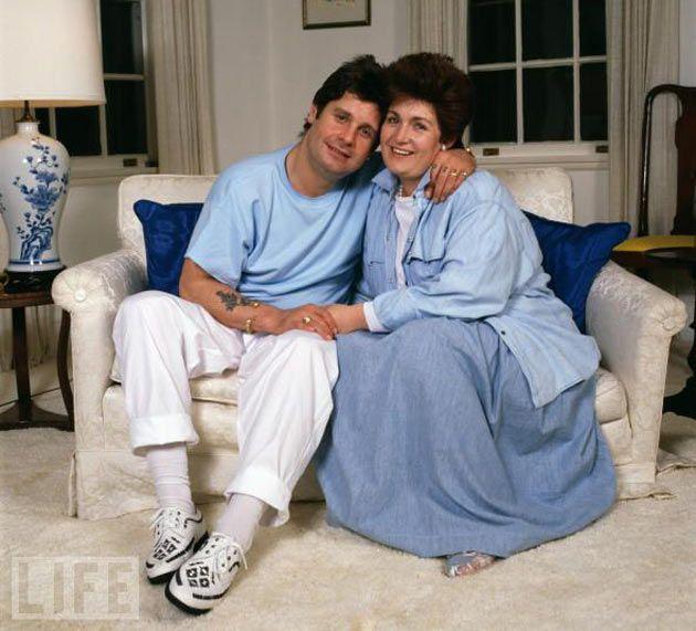 Ozzy Osbourne with wife Sharon, 1987