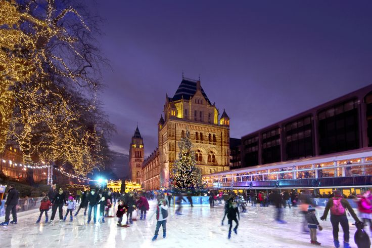 You can't get much mroe Christmassy than London's Natural History Musuem ice rink, open until 5 January. Go and burn off all those mince pies! http://www.nhm.ac.uk/visit-us/whats-on/ice-rink/index.html