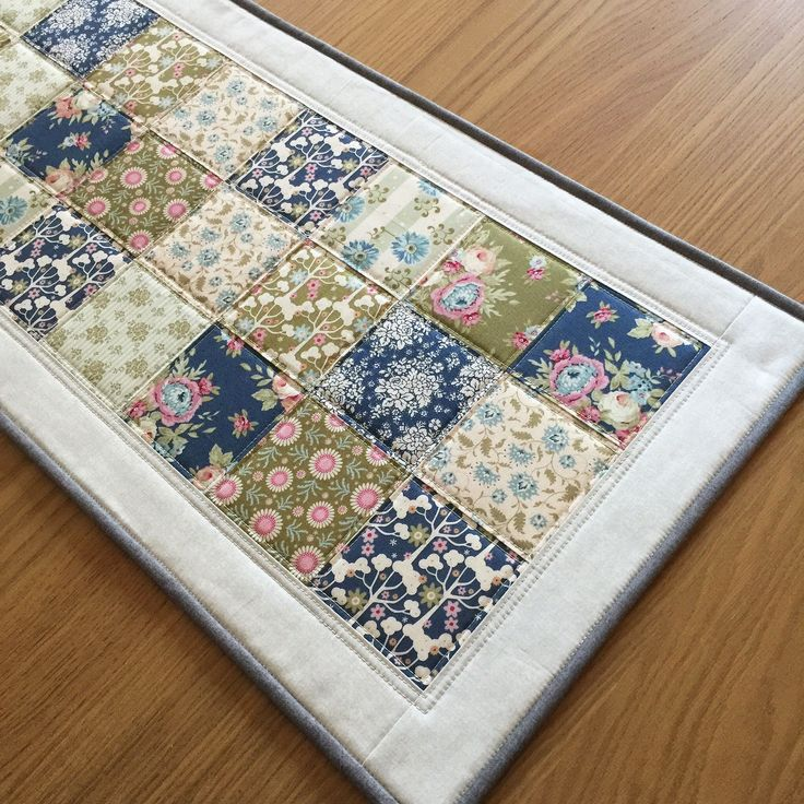 Patchwork Quilted Table Runner, Vintage Style Table Runner, Floral Fabric Table Topper, Quilted Table Mat, Mothers Day Gift, Table Linen by SewnByVicki on Etsy https://www.etsy.com/uk/listing/597075735/patchwork-quilted-table-runner-vintage